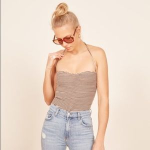 Reformation crop halter  Small Pomme top